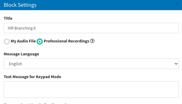 settings proff audio