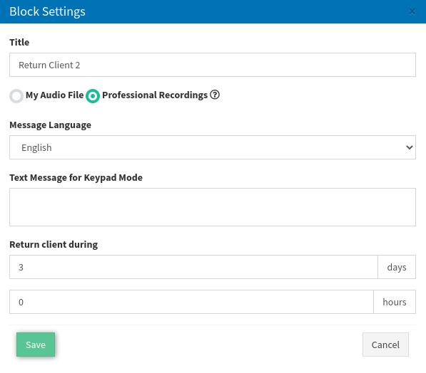 18 return client setup2