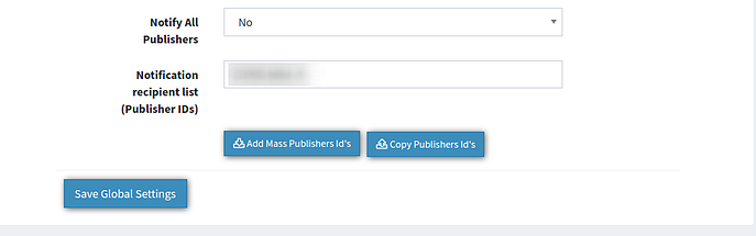 campaign settings - pause - notif publishers - admin- copy and save