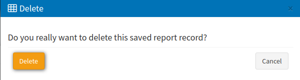 saved reports delete