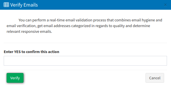 Email Lists - verify emails