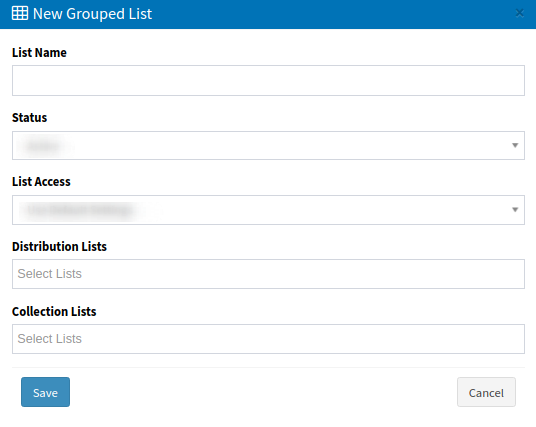 Phone number lists - add new grouped list-1