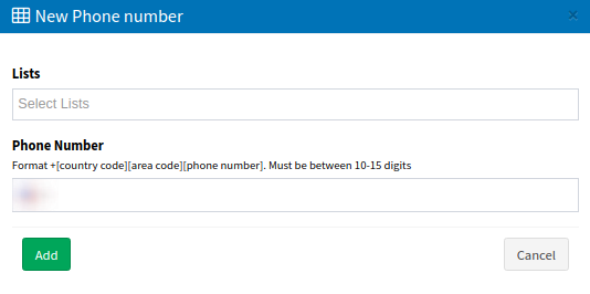 Manage Phone Numbers - add new-1