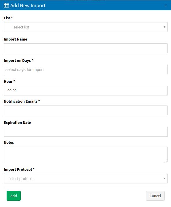 Import - add new import-1